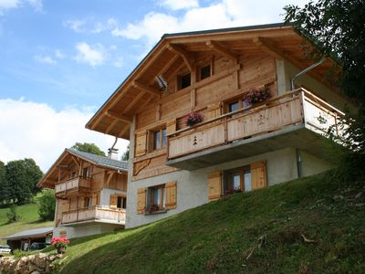 Photo for Chalet 8/12 pers. Quiet, heated pool, children's gaming, near the village