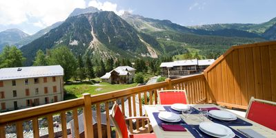 Breathe the fresh mountain air on your private balcony or patio.