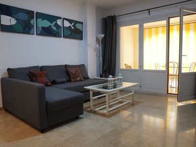 Photo for Renovated apt.   well located in the center of the port, with garage and with views