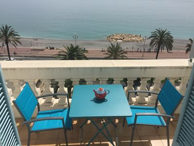 Photo for SPLENDID SEA VIEW, 2 rooms of exception, walk of English 2 + 1 beds