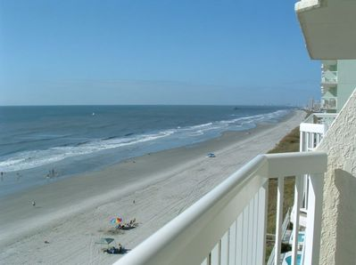 Great 180 degree from the balcony - beach to the left, right, and center!