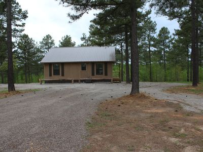 Photo for Private, comfortable, 2 yr old cabins, centrally located to area attractions