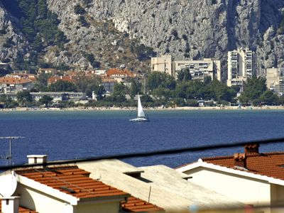 Photo for Studio flat with balcony and sea view Nemira (Omiš)