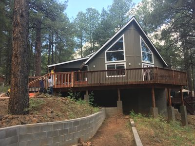 Photo for Grand Canyon gateway. Oasis in the Woods Summer  Winter Cabin. Private sledhill