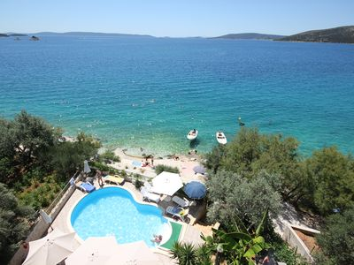 Photo for TOP LOCATION AMAZING SEA VIEW ONLY 10M FROM THE BEACH Split area-Nr Trogir