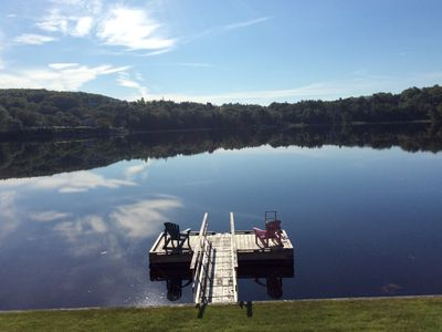 Photo for Oceanfront with Floating Dock for Swimming and Boating