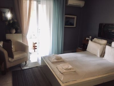 Photo for Flat 70m,10m from athens airport,free pick up&dropoff(11.00am-19.00pm),breakfast