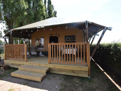 Photo for Comfortable Tent Lodge in Pittem with Barbecue and Veranda