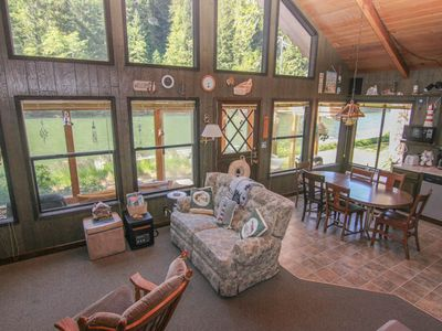 Photo for Cozy Rustic Cabin with Sun Porch Puts You Right on the River