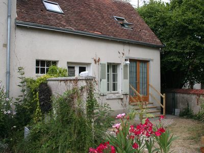 Photo for Fully restored ancient Loire Valley cottage with heated pool