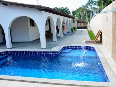 Photo for Beautiful house with 5 bedrooms with pool, gourmet area, close to the beach !!