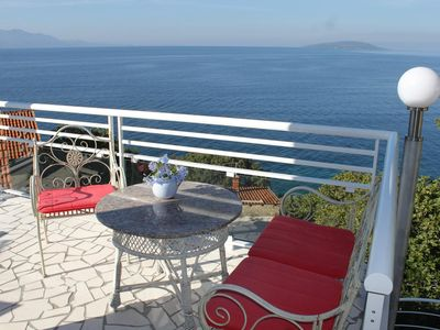 Photo for Studio flat with terrace and sea view Podaca, Makarska (AS-8536-a)