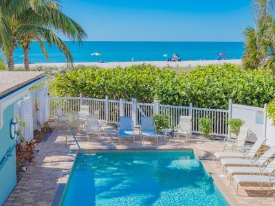 Photo for Palm Gables 110:  Gorgeous Gulf Front Condo, Steps to Beach, with Heated Pool