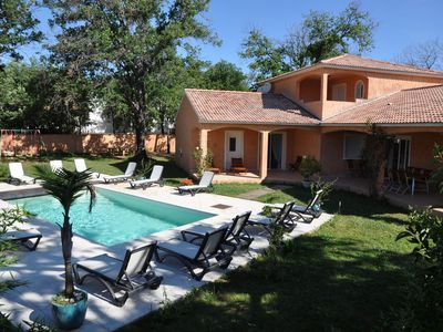 Photo for Superb spacious villa with private pool, only 300m from the beach.