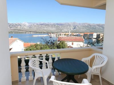 Photo for Studio flat with terrace and sea view Vinjerac (Zadar)