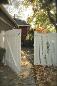 Through this gate is your VRBO
