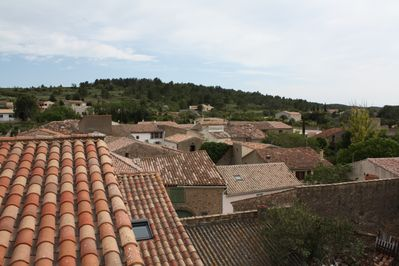 View across the village rooftops.