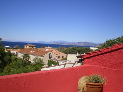 Photo for apartment center terrace ILE ROUSSE stunning views of the bay