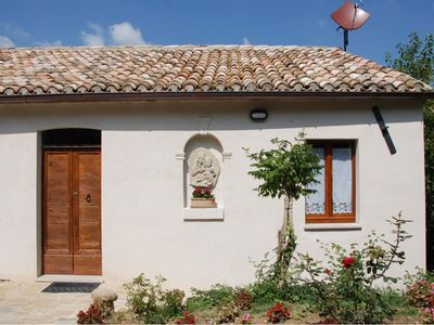 Photo for Holiday house Villa del Monte in Barchi, near Fossombrone, 20 minutes from the Adriatic Sea