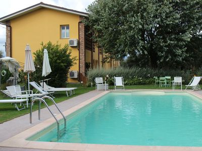 Photo for Apartment with pool, Villa Gabriella