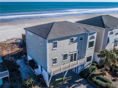 Photo for BERMUDA WATCH: 4 BR / 3.5 BA Oceanfront in Topsail Beach, Sleeps 8, Elevator