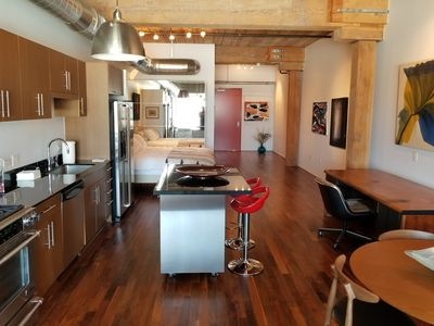 Photo for Beautiful and modern 1bd Arts District loft with sweeping Downtown views