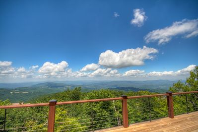 Mountain Top Lodge Views of 4 States on a Clear Day from High Elevation on Beech Mountain