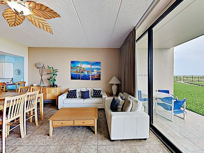Photo for New Listing! Ground-Floor Beachfront Unit 106 w/ Pool & Sauna - Steps to Sand