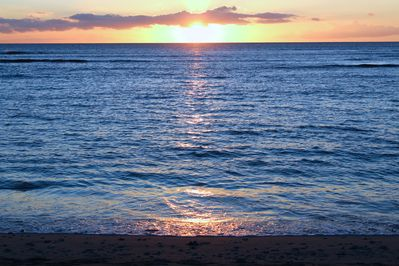 Sunsets nightly in front of the home. Bring a beach chair and enjoy every minute