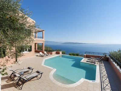 Photo for Villa in Corfu With Private Pool And  Spectacular  Sea Views