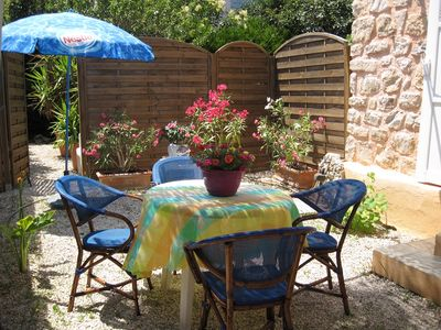 Photo for Nice 3 roomed flat in villa, garden,private car park;at 250m of the sea.