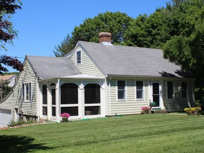 Photo for Charming Village Center Home Close to Beach! AC, Beach Pass, Sleeps 9.