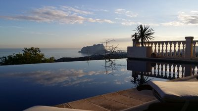 Photo for SUPER LUXURY, INCREDIBLE VIEWS 180º TO THE SEA, INFINITE SWIMMING POOL AIR CONDITIONED 12 PAX