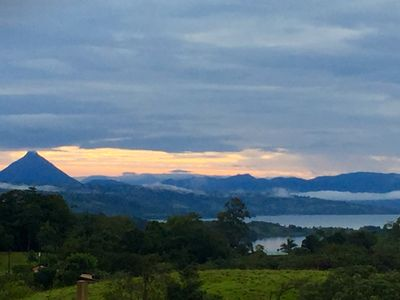 Photo for Spacious house with spectacular views of the lake and volcano Arenal