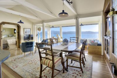 Spacious and luxurious interior with awe-inspiring Tomales Bay views