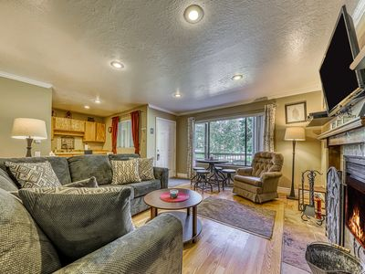 Photo for Spacious, dog-friendly condo w/ incredible mountain views - walk to lifts!