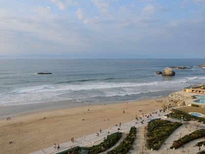 Photo for Exceptional sea, Biarritz center, pool terrace parking, WIFI, beach