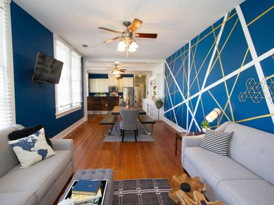 Photo for Hip, Colorful flat - Walk to Trendy Freret Street! - Three Bedroom House, Sleeps 10