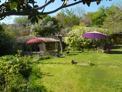 Photo for Uzes 600m from downtown, small house, wooded with pool, very quiet