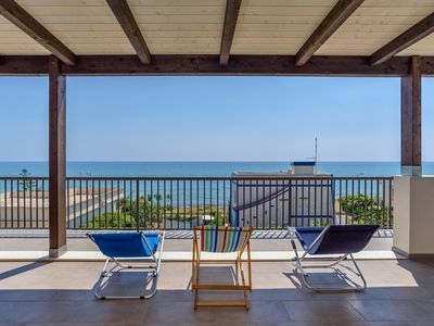 Photo for Ducezio, apartment with sea view for 2 people