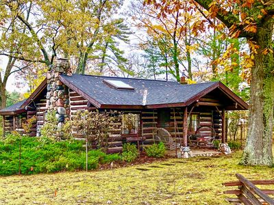 Photo for NEW! Harbor Springs Log Cabin on Tunnel of Trees!