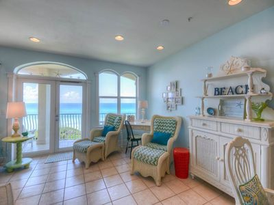 Photo for Spacious gulf front 3 bedroom condo, pool, gas fireplace.