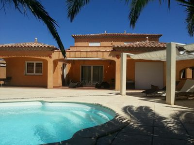 Photo for luxury heated pool villa located in Saint Cyprien