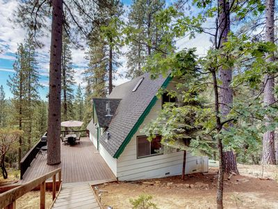 Photo for NEW LISTING! Charming dog-friendly A-Frame with shared pool and free WiFi