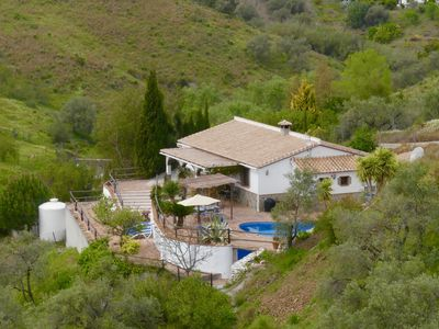 Photo for A delightful rustic villa with private pool, terraces and superb views