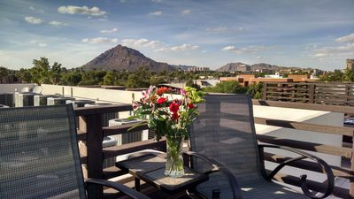 View of Camelback Mountain from 360 Degree Roof Deck.