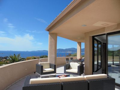 Photo for PORTICCIO | Luxury villa 240 m² | pool | STUNNING sea view