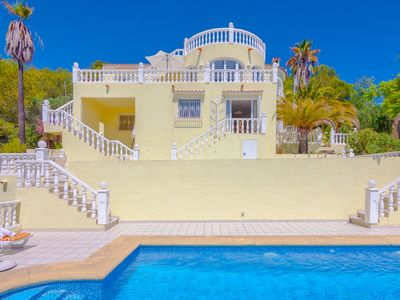 Photo for MONTEMAR, villa for 12 guests with sea and mountain views