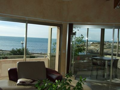 Photo for Beautiful villa facing the sea with heated pool, spa, garage, garden, barbecue