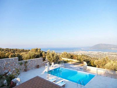 Photo for Early Bird Offer :Luxury Villa with panoramic sea views and pool in Lefkada